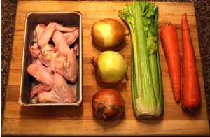 Ingredients for your chicken stocks