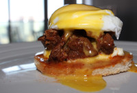 Eggs Benedict with Jack's Famous Braised Beef