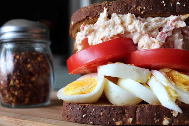Egg Sandwich with Pimento Cheese2