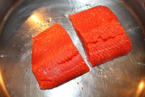 sear salmon skin