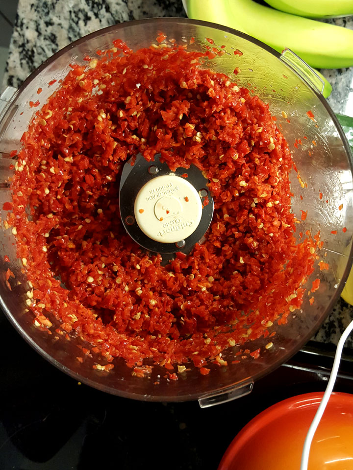 hot pepper mash puree