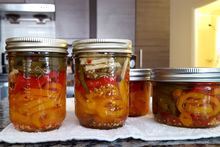 finished pickled hot pepper recipe
