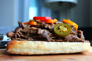 shredded beef sandwich 2