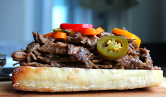 Shredded Beef Sandwich