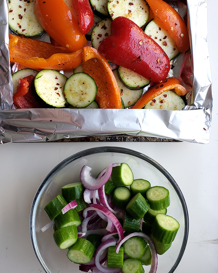 Roasted Veg and Salad
