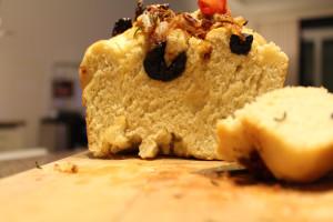 inside of focaccia bread