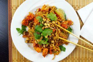 peanut sauce rice noodles